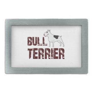 Bull-terrier Boucle De Ceinture Rectangulaire