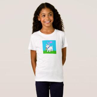 Bull-terrier de bande dessinée avec la pièce en t T-Shirt