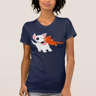 Bull-terrier de bande dessinée et T-shirt mignons