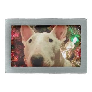 Bull-terrier de Merra de Joyeux Noël Boucle De Ceinture Rectangulaire