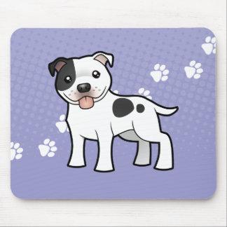 Bull-terrier du Staffordshire de bande dessinée Tapis De Souris