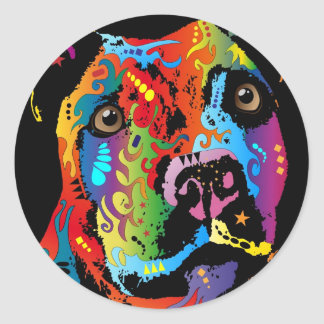 Bull-terrier du Staffordshire Sticker Rond