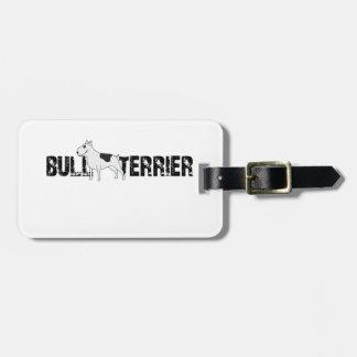 Bull-terrier Étiquette À Bagage