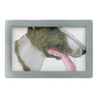 Bull-terrier, fernandes élégants boucles de ceinture rectangulaires