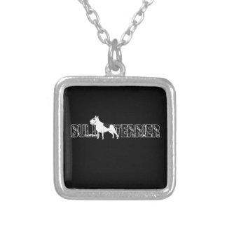 Bull-terrier Pendentif Carré