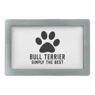 Bull-terrier simplement le meilleur boucle de ceinture rectangulaire