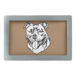 Bull-terrier STAFFY du Staffordshire Boucle De Ceinture Rectangulaire