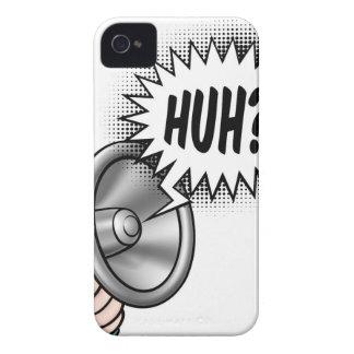 Bulle de la parole de corne de brume de bande coques iPhone 4