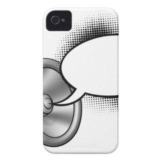 Bulle de mégaphone et de parole de bande dessinée coques Case-Mate iPhone 4