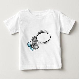 Bulle de mégaphone et de parole de bande dessinée t-shirt pour bébé