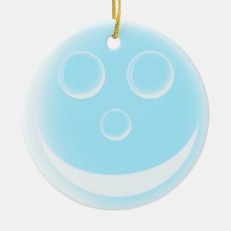 Bulle de sourire ornement rond en céramique
