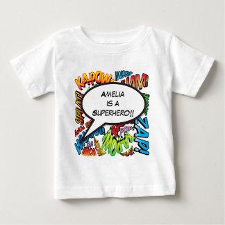 Bulle personnalisée de la parole d'art de bruit de t-shirt pour bébé