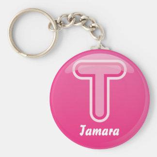Bulle rose de la lettre T de porte - clé Porte-clés