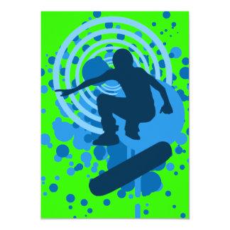 bulles de haute fidélité de planche à roulettes carton d'invitation  12,7 cm x 17,78 cm