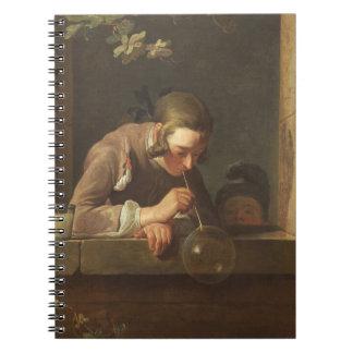 Bulles de savon, C. 1733 - 34 (huile sur la toile) Carnet