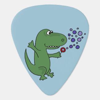 Bulles de soufflement de dinosaure vert drôle de onglet de guitare
