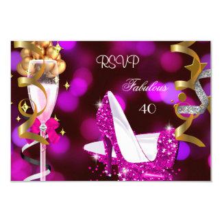 Bulles fabuleuses d'or de roses indien de RSVP 40 Carton D'invitation 8,89 Cm X 12,70 Cm