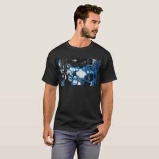 Bulles noires et bleues abstraites t-shirt
