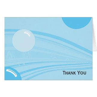 Bulles sous-marines dans le bleu cartes de vœux