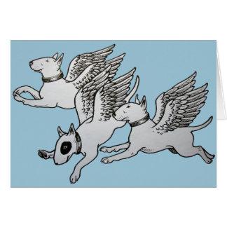 Bulls-terrier de vol cartes
