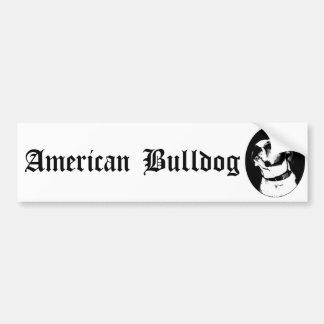 Bumpersticker américain de bouledogue autocollants pour voiture