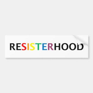 Bumpersticker de Resisterhood Autocollant De Voiture