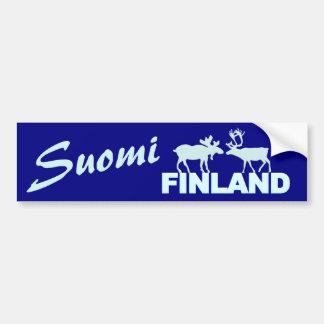 Bumpersticker d'orignaux et de renne de la Finland Autocollant Pour Voiture