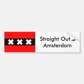 Bumpersticker droit d'Outta Amsterdam Autocollant De Voiture