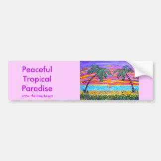 Bumpersticker - paradis tropical paisible autocollant pour voiture