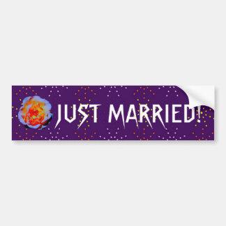 Bumpersticker pointillé de mariage de rose gothiqu autocollant pour voiture