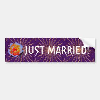 Bumpersticker rose gothique de mariage de Sunstar Autocollant De Voiture