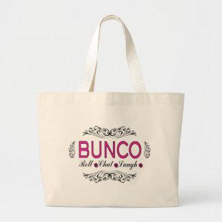 Bunco, petit pain, conversation, rire dans le rose grand sac