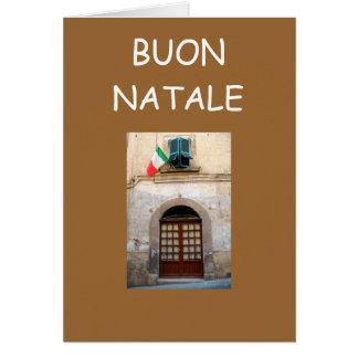 BUON NATALE CARTE DE VŒUX