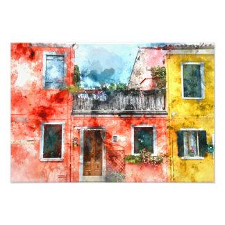 Burano romantique Italie près de Venise Italie Impression Photo