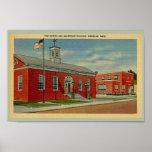 Bureau de poste vintage, bâtiment de Makepeace., W Affiche