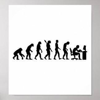 Bureau d'ordinateur d'évolution poster