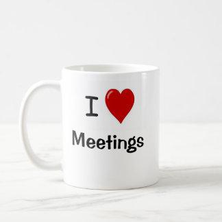 Bureau très drôle indiquant - réunions d'amour d'I Mug