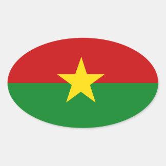 Burkina Faso Sticker Ovale
