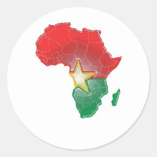 Burkina Faso Sticker Rond