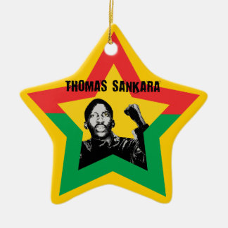 Burkina Fasso STAR de Thomas Sankara Xmas ornement