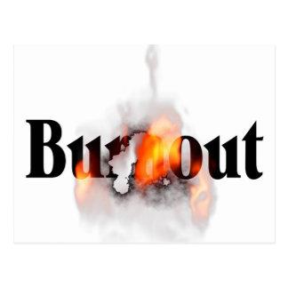 Burn-out se sentant ? carte postale