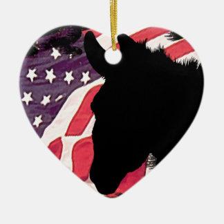 Burro des USA Ornement Cœur En Céramique