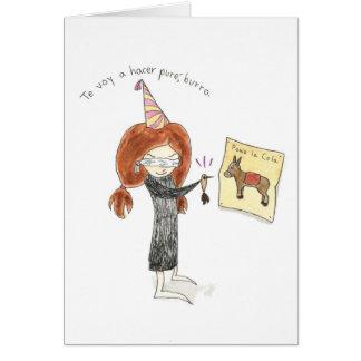 Burro Tarjeta de Cumpleaños Carte De Vœux