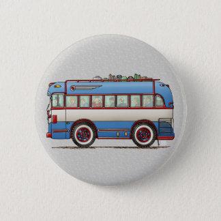 Bus touristique mignon d'autobus badges