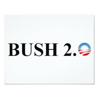 BUSH 2,0 CARTON D'INVITATION 10,79 CM X 13,97 CM