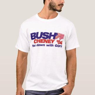 Bush/Cheney '04 : Vous vers le bas avec le GOP ? T-shirt