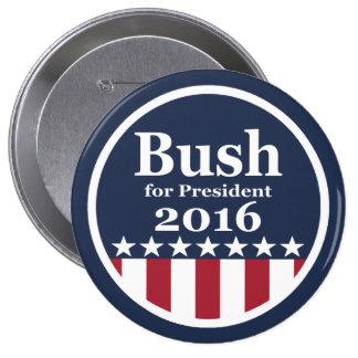 Bush pour des boutons de président 2016 campagne badge