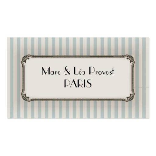 Business card - Carte de visite Old Paris