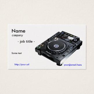 Businesscard du DJ Cartes De Visite