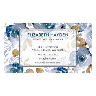 Businesscard floral vintage de wedding planner carte de visite standard